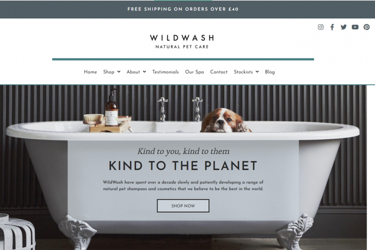 Home Page of Wildwash.co.uk
